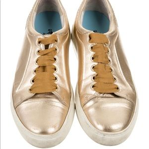 ❤️Lanvin Metallic Leather Low Top Sneakers❤️
